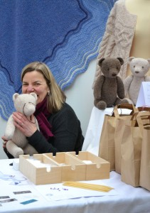 Jane Watling of Caleydocious with Owen bear kits.