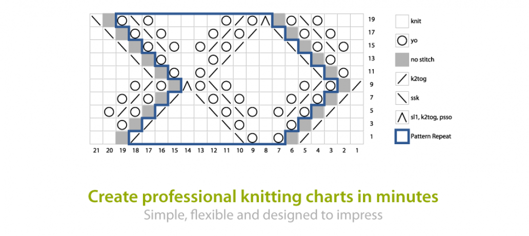 Knitting Diagram Software : Software tools for knitters stitchmastery