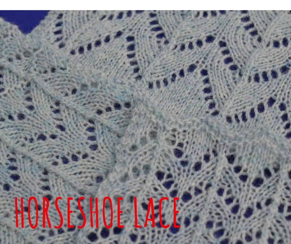Horseshoe lace - three different sizes