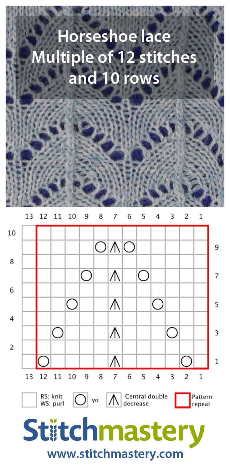 Horseshoe lace - larger
