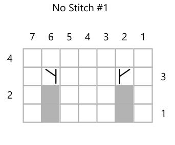 No Stitch Chart 1