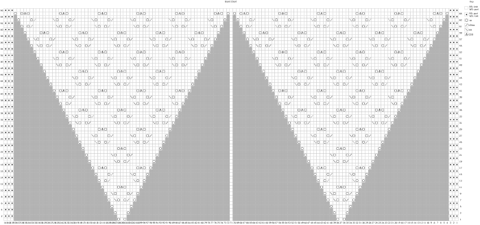 Huge triangular knitting chart
