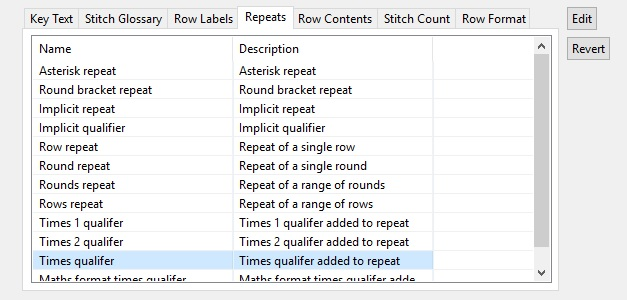 Screenshot showing Revert option in Stitchmastery