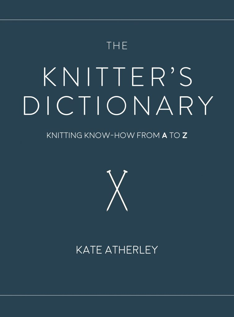 Image of the front cover of The Knitter's Dictionary""