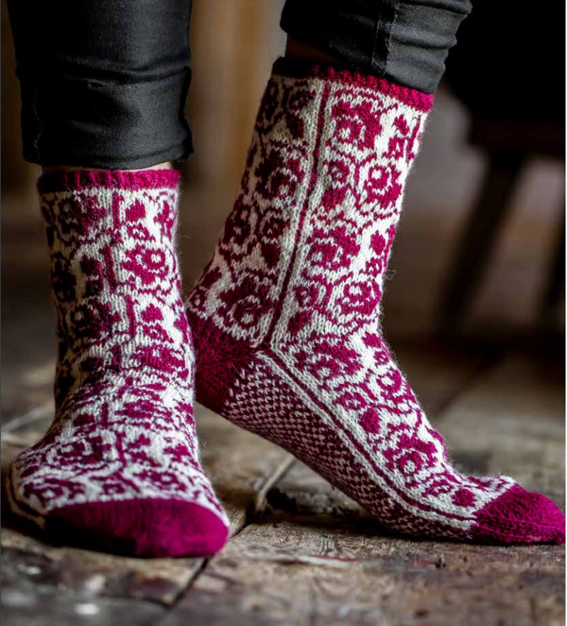 Photo of some colourwork socks